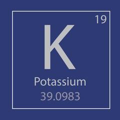 K potassium chemical element icon- vector illustration