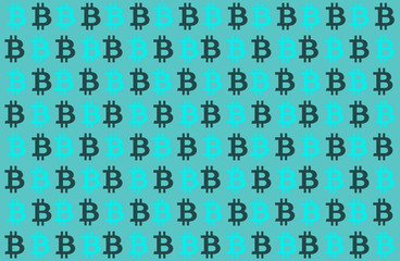 bitcoin cryptocurrency blue background