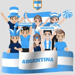 Set of Soccer / Football Supporter / Fans of Argentina National Team