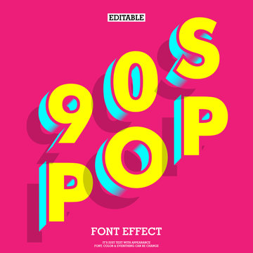 3d 90s style pop art music theme design for t-shirt and poster