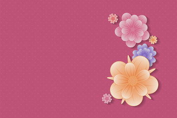 Background with flowers - template for Mother's Day. Vector.