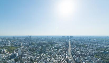 東京風景・2018年・渋谷方面・逆光