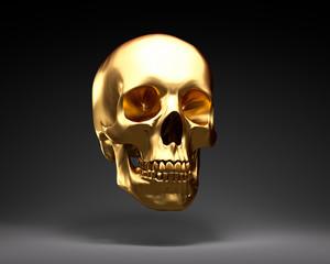 Schädel aus Gold