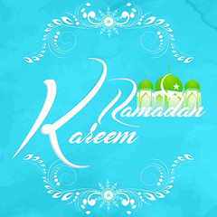 nice and beautiful abstarct or poster for Ramadan Kareem with nice and creative design illustration in a background.