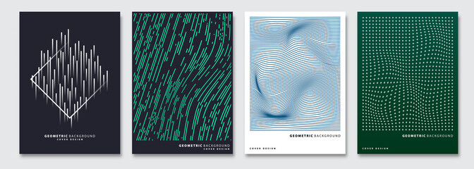 Cover templates set, vector geometric abstract background. Flyer, presentation, brochure, banner, poster design. Fototapete