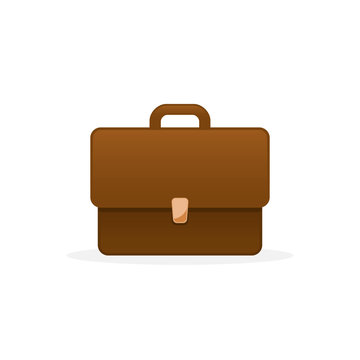 Briefcase Flat Icon. Vector isolated color illustration