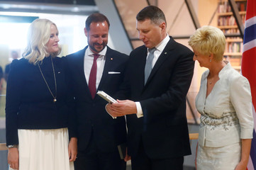 Norway's Crown Prince Haakon and Crown Princess Mette-Marit visit Latvia