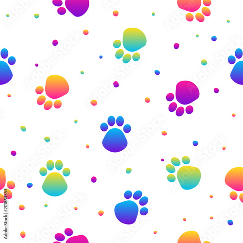 Abstract Rainbow Seamless Pattern Background Modern Swatch For Birthday Card Kids Party Invitation
