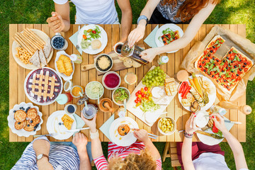 Openair meal for friends