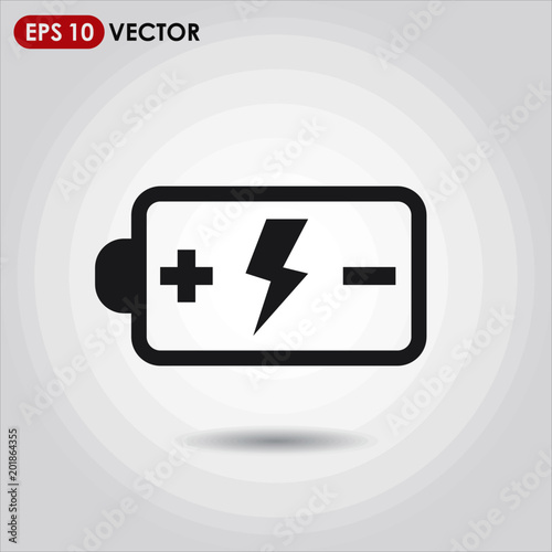 battery single vector icon on light background
