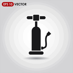 air pump single vector icon on light background