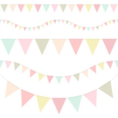 5 Seamless Colored Festoons Seamless Pastel Retro