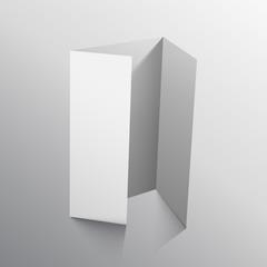 three fold paper vector mockup