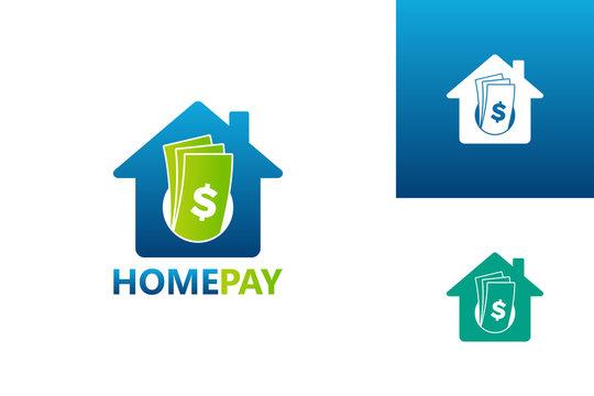 Home Pay Logo Template Design Vector, Emblem, Design Concept, Creative Symbol, Icon