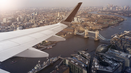 aerial cityscape view of London