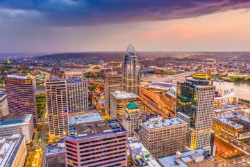 Fototapete - Cincinnati, Ohio, USA Skyline