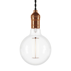 Vintage glowing light on white background. 3D rendering.