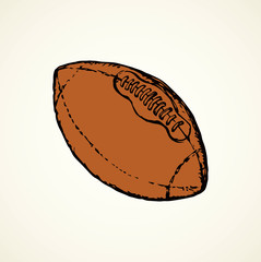 Rugby ball. Vector drawing