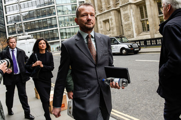 Jonathan Munro, Head of Newsgathering at the BBC, arrives at the High Court in London