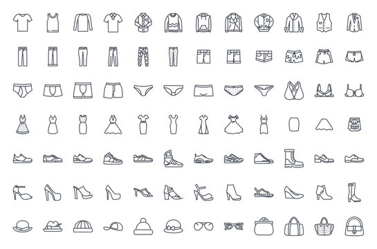 Clothes line icon vector pack
