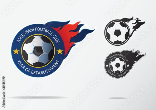 soccer logo or football badge template design for football team