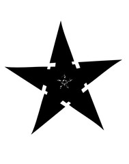 Five-pointed star silhouette