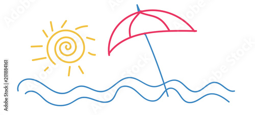 Estate Acqua Sole Mare Vacanze Vettoriale Immagini E