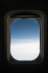 Travel by plane, outside the aircraft window