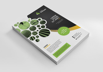 Black and Green Flyer Layout
