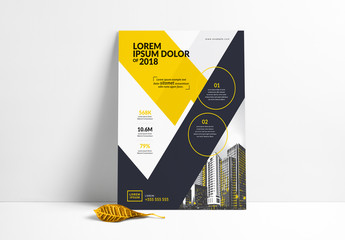 Flyer Layout with Cityscape Illustration