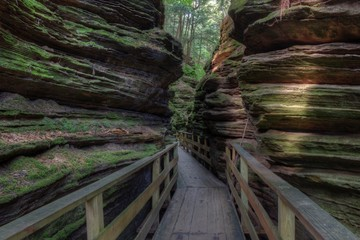Witches Gulch is a hidden Attraction in Wisconsin Dells and can only be reached by Boat