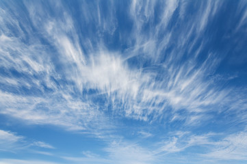 Beautiful white clouds against the blue sky. Texture of clouds