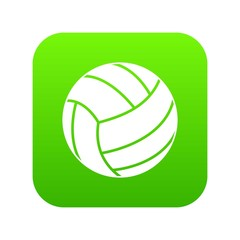 Black volleyball ball icon digital green for any design isolated on white vector illustration