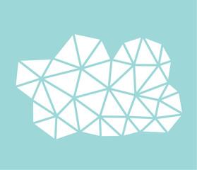 Low poly geometric cloud