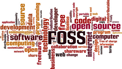 FOSS word cloud