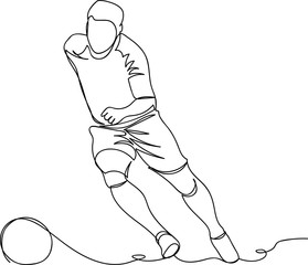 the player runs for the ball. one line