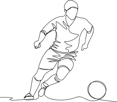 the player with the ball. one line