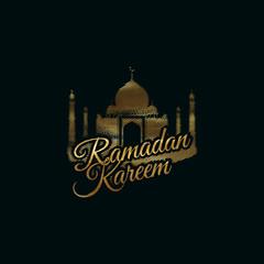 Ramadan Kareem golden label