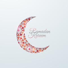 Ramadan Kareem. Islamic holiday poster design