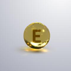 Vitamin E realistic icon.