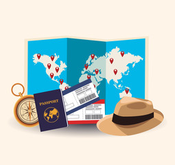 Time to travel concept vector illustration graphic design