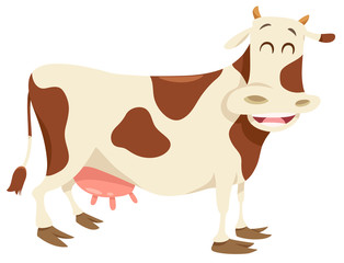 happy spotted cow farm animal character