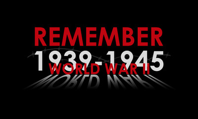 Day of Remembrance and Reconciliation vector illustration. World War II 1939-1945 poster.
