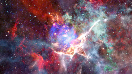 Nebula and stars in outer space. Elements of this image furnished by NASA.