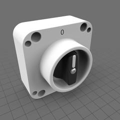 Round power knob