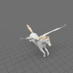 Stylized pegasus flying