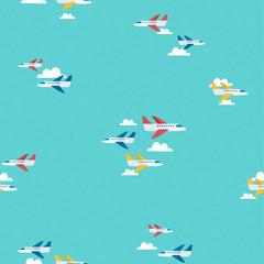 Air plane sky travel pattern background art