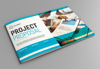 Project Proposal Layout with Blue Accents