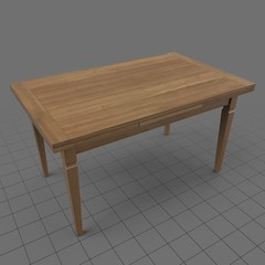 Transitional dining table 2