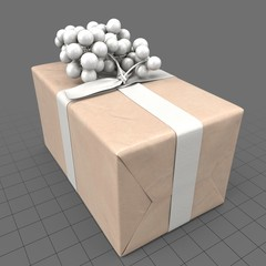 Wrapped present with fake grapes 1